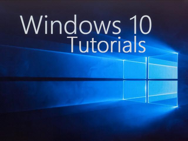 tutorial win10
